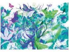 AP DIGITAL fototapetai 470004 Butterfly Garden