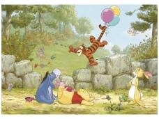 KOMAR fototapetai 8-460 Winnie Pooh ballooning