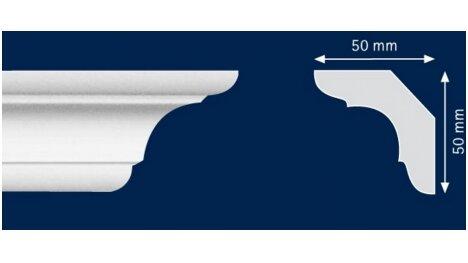 Polistiroliniai lubų apvadai C70 2m