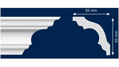 Polistiroliniai lubų apvadai K130 2m