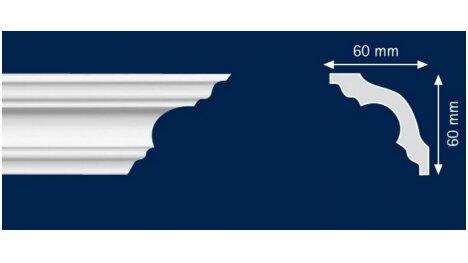 Polistiroliniai lubų apvadai K60 2m