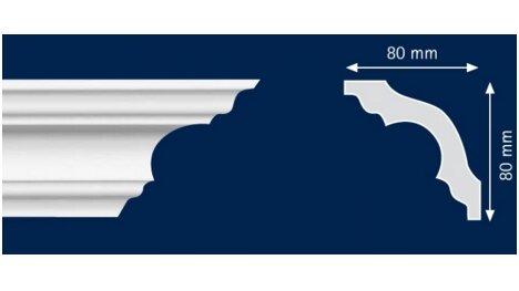Polistiroliniai lubų apvadai K80 2m