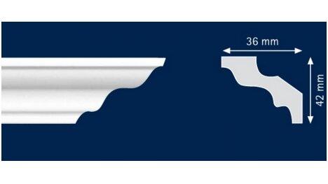 Polistiroliniai lubų apvadai M50 2m