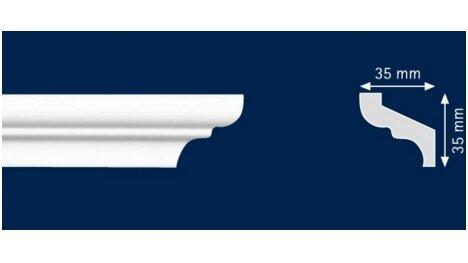 Polistiroliniai lubų apvadai S35 2m