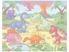WALLTASTIC fototapetai Dino Nursery