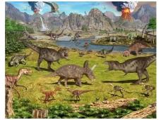 WALLTASTIC fototapetai Dinosaur Land