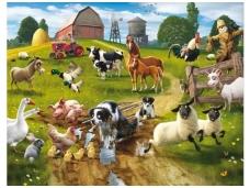 WALLTASTIC fototapetai Farm