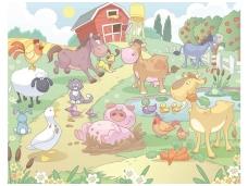 WALLTASTIC fototapetai Farm Nursery