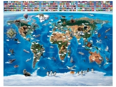 WALLTASTIC fototapetai Map Of The World