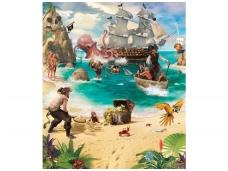 WALLTASTIC fototapetai Pirate And Treasure Adventure