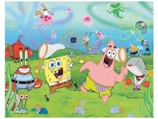 WALLTASTIC fototapetai Spongebob Squarepants